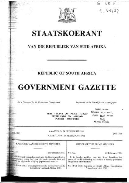 File:Republic of South Africa Constitution Amendment Act 1981.djvu