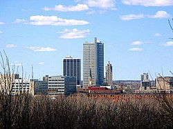 Downtown Fort Wayne from Reservoir Park