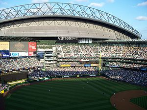 Safeco Field -  Retractable roof open, July 2008