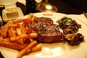 Steak - Ribeye steak at a steak house