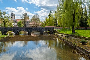 Ribnica, Ribnica - View of French bridge over river Bistrica