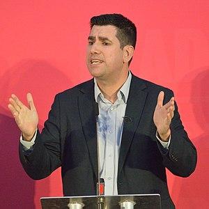 Richard Burgon, 2020 Labour Party deputy leadership election hustings, Bristol.jpg