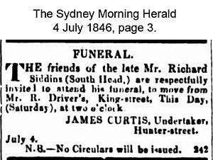 Richard Siddins - Richard Siddins funeral notice