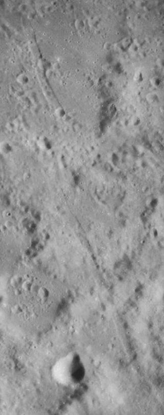 Römer (crater) - Lunar Orbiter 4 image of Rimae Römer