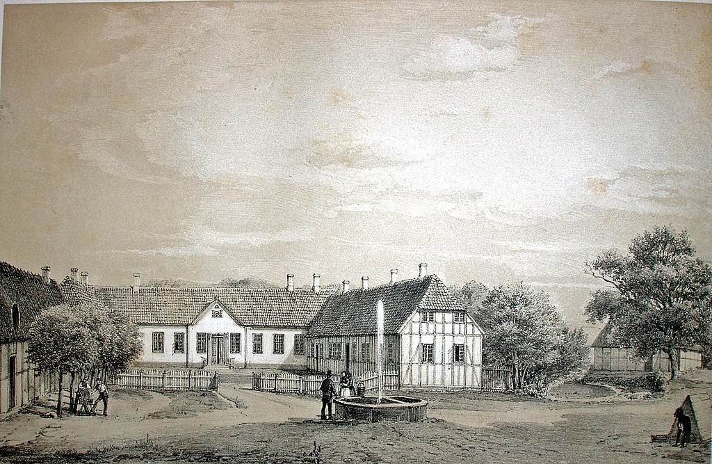 Ristrup Hovedgård omkring 1860