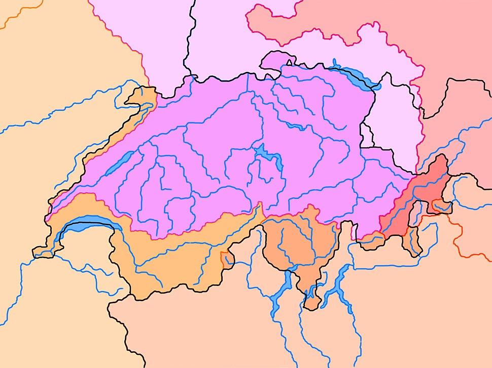 River basins in Switzerland