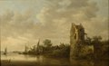 Riverside with an Old Tower (Jan Josephsz. van Goyen) - Nationalmuseum - 17444.tif