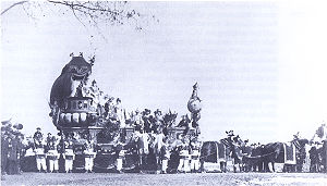 Mainz carnival - The carnival princes cart of the 1886 Rosenmontag parade