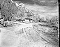 Roads, turnouts, and comfort station under construction at South Campground extension. ; ZION Museum and Archives Image 003 (ed579dba38e84c1298fe4c91d2d47cf1).jpg
