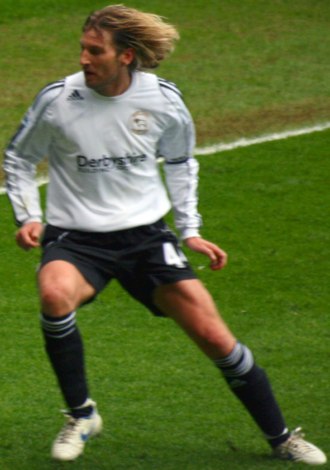 Robbie Savage - Savage playing for Derby against West Ham United in the 2007–08 season