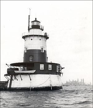 Katherine Walker - Robbins Reef Light Station, c. 1951