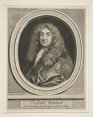 Robert Nanteuil - Portrait of Robert Nanteuil, by Gerard Edelinck
