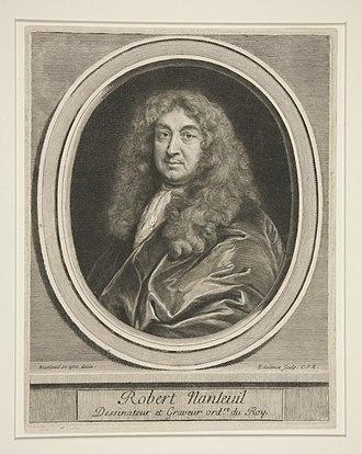 Robert Nanteuil - Portrait of Robert Nanteuil, by Gerard Edelinck