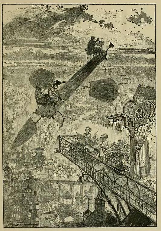 Albert ROBIDA - La vie électrique (1893) 533px-Robida_-_Le_Vingti%C3%A8me_si%C3%A8cle_-_la_vie_%C3%A9lectrique%2C_1893_%28page_51_crop%29