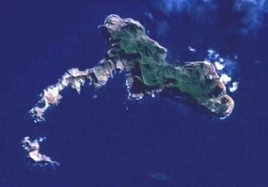 Santa Clara Island - Map showing tiny Santa Clara at bottom left