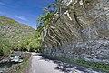Rock face by the Fv630 road in Lærdalen, 2013 June.jpg