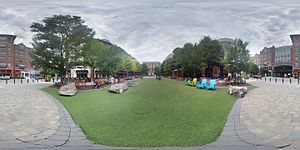 Rockville Mall - 360 panorama of Rockville Town Center