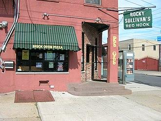 Rocky Sullivan's - Rocky Sullivan's pub in Red Hook, seen from across Van Dyke Street