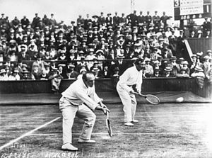 Herbert Roper Barrett - Roper Barrett with C.P. Dixon in the 1913 Davis Cup