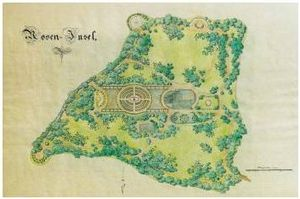 Map of the Rose Island, Lenné, around 1850