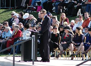 Ross Symonds - Ross Symonds was the MC for the 2008 Anzac Day National Service at the Australian War Memorial, Canberra.