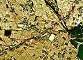 Rows of pine trees of Awaji National Route Aerial photograph.1974.jpg