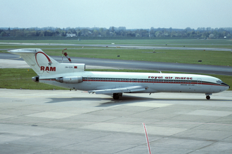 Royal Air Maroc - A Royal Air Maroc Boeing 727-200 Advanced at Düsseldorf Airport in 1993.