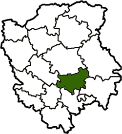 Location of Rožiščes rajons