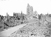 Ruins of the Hôtel de Ville, Arras on 26 May 1917