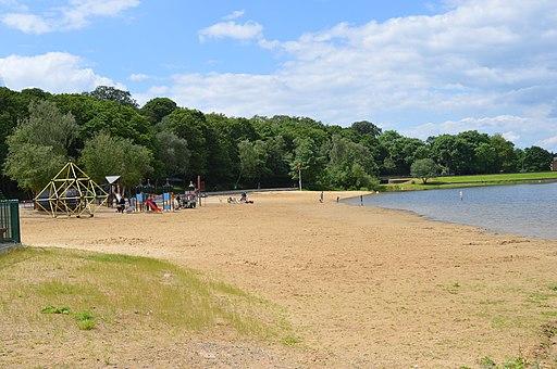 Ruislip Lido beach