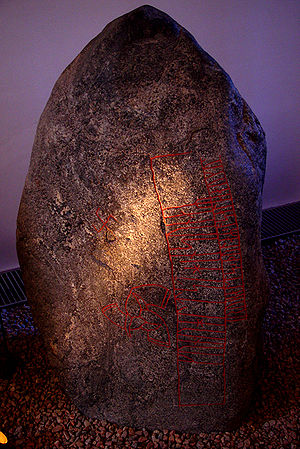 Runestone - The Snoldelev stone, one of the oldest runestones in Denmark