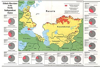 Russians - Ethnic Russians in former Soviet Union states in 1994