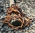 Rusty chain on the Tamar shore - geograph.org.uk - 465230.jpg