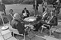 Ruud Lubbers (CDA), Joop den Uyl (PvdA), onbekend, Jan Terlouw (D66) en Dries va, Bestanddeelnr 931-6611.jpg