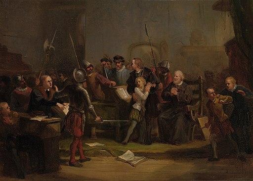 SA 4949-Anno 1568. Filips Willem wordt uit de hogeschool te Leuven ontvoerd