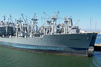 Type C5 class ship - SS Cape Girardeau, a C5-S-75a at Alameda