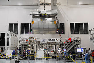 STS-133 - PMM Leonardo at the Space Station Processing Facility (SSPF).
