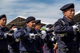 Malaysian Maritime Enforcement Agency - Members of MMEA during the 2013 Merdeka Day Parade in Kota Kinabalu, Sabah.