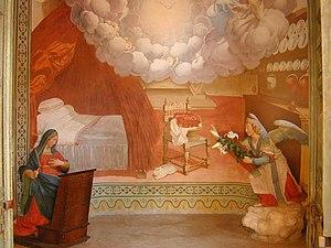 Sacro Monte di Ossuccio - Chapel I with  The Annunciation.