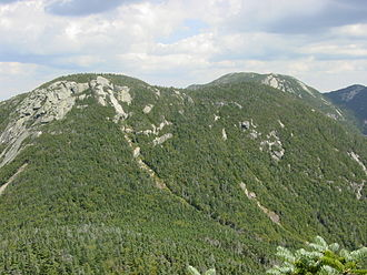 Saddleback Mountain (Keene, New York) - Saddleback Mountain as seen from the southwest during the ascent of Basin