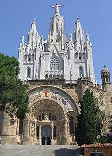 The church of Sagrat Cor atop the Tibidabo