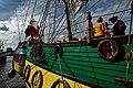 Sail Amsterdam - De Ruyterkade - View NW on Frigate Shtandart 1703 - Replica 1999 the first ship of Czar Peter I's Baltic Fleet.jpg