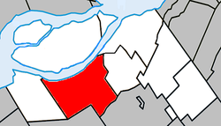 Location within Beauharnois-Salaberry RCM.
