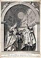 Saint Geminianus and Saint Severus. Etching by A. Zucchi after S. Manaigo after P. Veronese.jpg