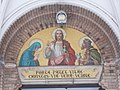 Saint Ladislaus Church, Jesus Christ mosaic, 2016 Budapest.jpg