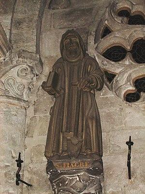 Saint Fiacre - Saint Fiacre, 15th-century statue, Church of St Taurin d'Évreux