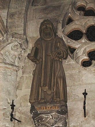 Saint Fiacre - Saint Fiacre, 15th-century statue in the Church of Saint Taurin d'Évreux