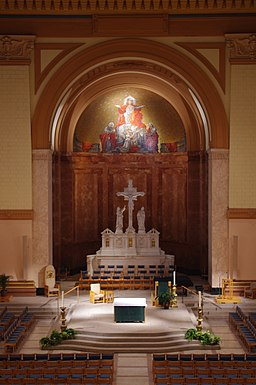 Saints Peter & Paul Cathedral (Indianapolis, Indiana), interior, sanctuary viewed from organ loft