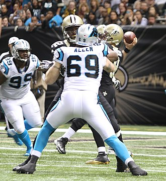 Jared Allen - Allen playing for the Panthers in 2015.