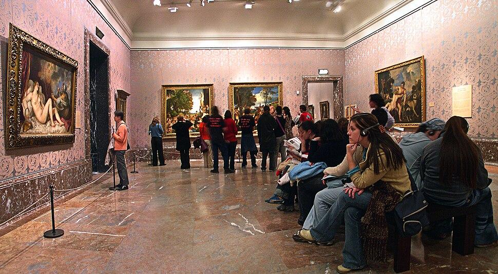 Sala de Tiziano en el Museo del Prado